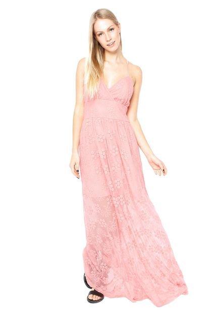 Vestido de renda rosa