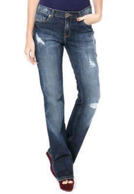 Calça Jeans M.Officer Bootcut Puídos Azul