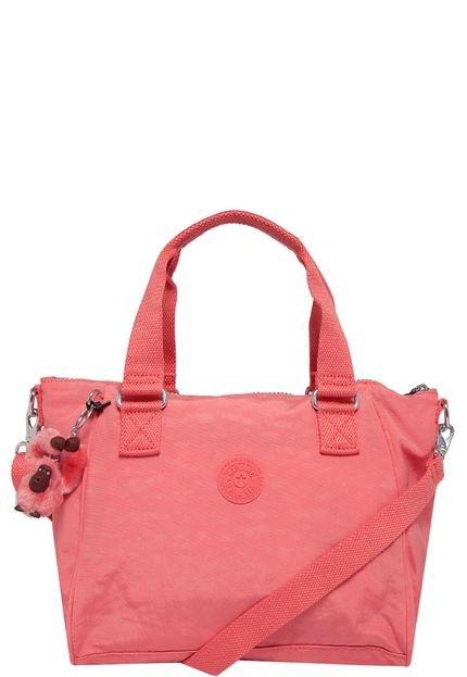 Bolsa De Mão Rosa Pink : Bolsa de m?o kipling basic amiel shell pink rosa compre