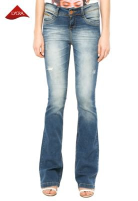 Calça Jeans Osmoze Bootcut Puído Azul