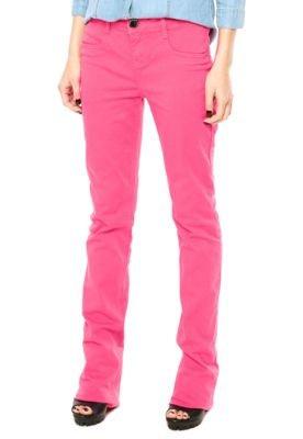 Calça Jeans Lança Perfume Bootcut Low Rosa