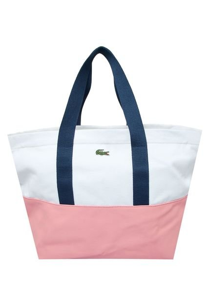 Bolsa Lacoste Blanc Branca : Bolsa lacoste logo branca compre agora dafiti brasil
