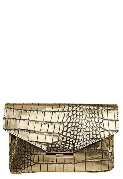 Bolsa Dourada Santa Lolla : Bolsa clutch santa lolla fivelas dourada compre agora
