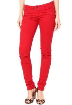 Calça Sarja Sawary Color Vermelha