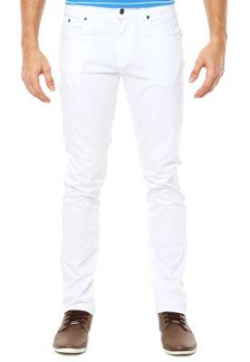 Calça Jeans Lacoste Reta Logo Branca