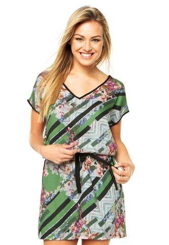 Vestido Iódice Denim Rain Verde