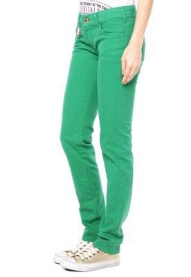 Calça Sarja Forum Skinny Raquel Color Verde