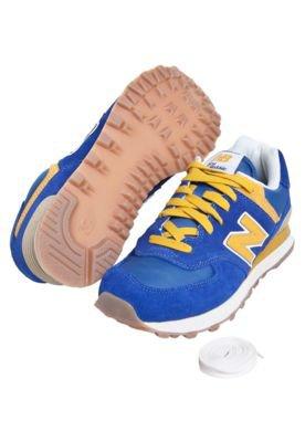 Tenis New Balance 574 Vintage Azul