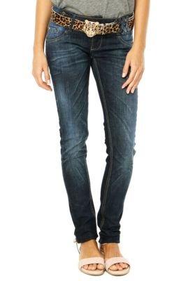 Calça Jeans Sawary Skinny Animal Azul