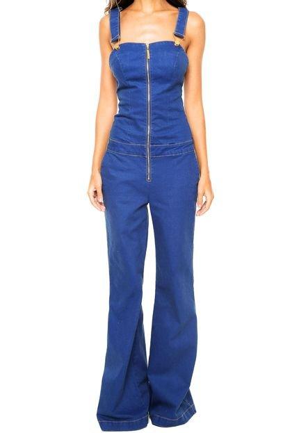 Jardineira jeans lan a perfume z per azul compre agora for Jardineira jeans c a