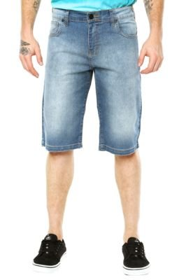 Bermuda Hurley Jeans Relaxed Azul