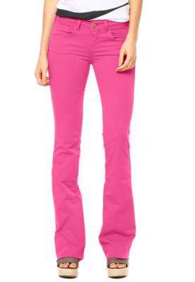 Calça Sarja Coca-Cola Jeans Demi Flare Color Rosa
