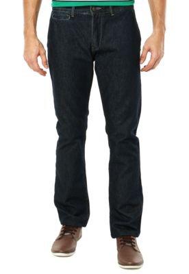 Calça Jeans Lacoste Reta Bolso Azul