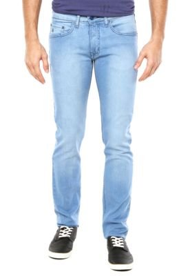 Calça Jeans Calvin Klein Jeans Reta Gasto Azul