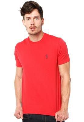 Camiseta Aleatory Bordado Vermelha