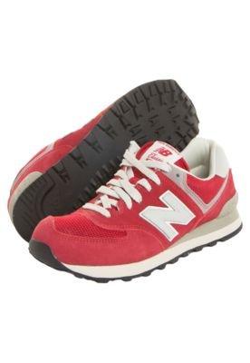 Tênis New Balance 574 Classic Vermelho