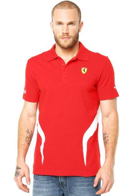 camiseta puma scuderia ferrari infantil 6ed98f6382d36