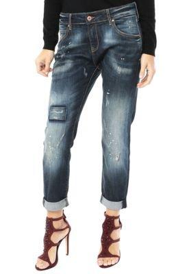 Calça Jeans MNG Barcelona Reta Night Azul
