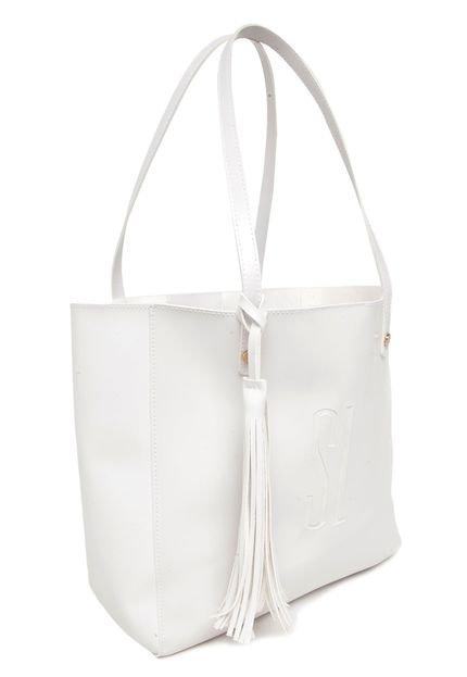 Bolsa Familia Santa Branca : Bolsa sacola santa lolla tassel branca compre agora