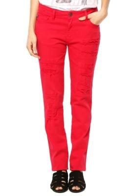 Calça Jeans Ellus Color Light Vermelha