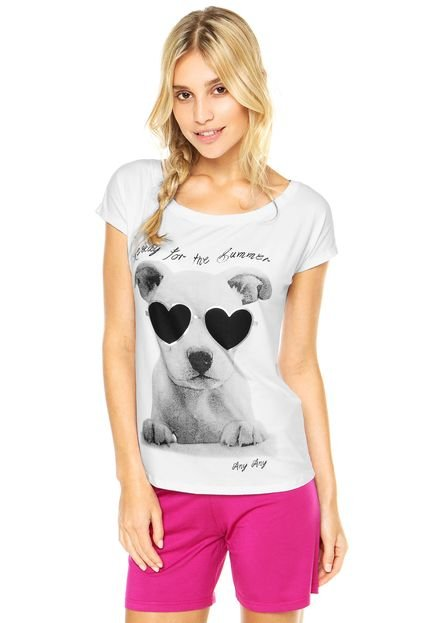 Short-Doll Any Any Dog Summer Multicolorido