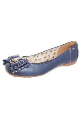 Sapatilha Dakota Laço Franja Azul