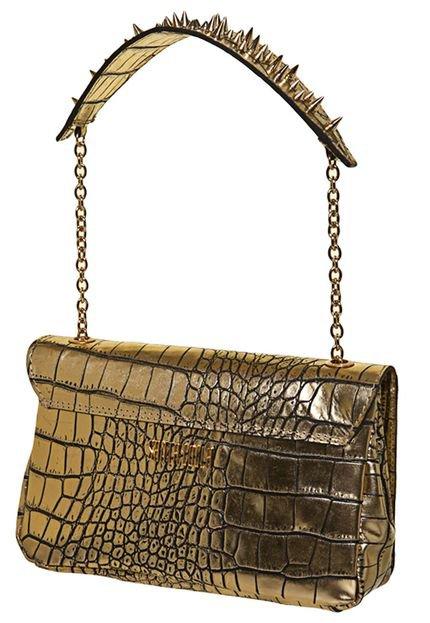 Bolsa Dourada Santa Lolla : Bolsa clutch santa lolla al?a spikes dourada compre