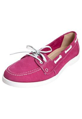 Mocassim Pink Connection Couro Dockside Rosa