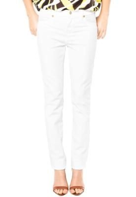 Calça Jeans Iódice Denim Skinny Recorte Branca