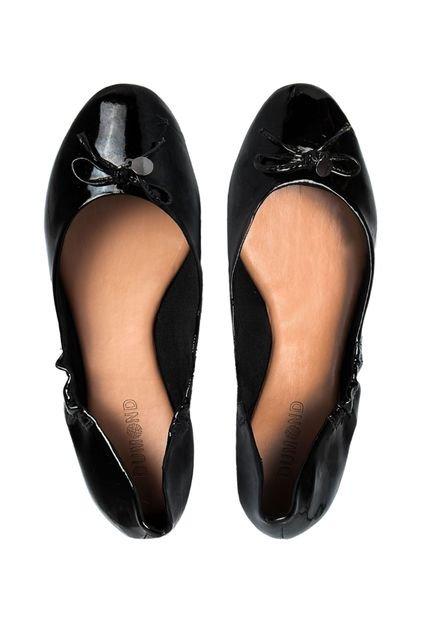 Bolsa Dumond Preta Verniz : Sapatilha dumond verniz cristal preta compre agora