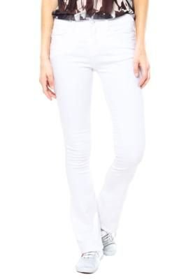 Calça Calvin Klein Jeans Flare Style Branco