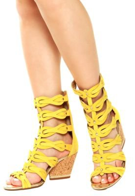 Sandália Salto Dakota Gladiadora Amarela