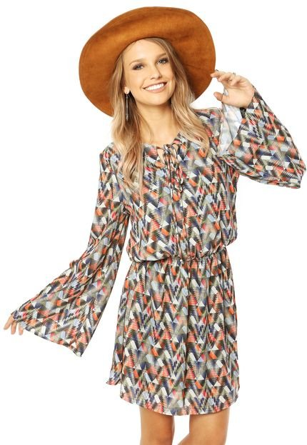 Vestidos estampados geométricos inspirados em Isabelle Drummond