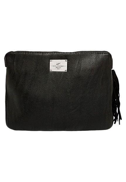 Bolsa Ellus Clutch Alto Relevo : Bolsa clutch ellus alto relevo preta compre agora