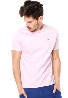 Camiseta Aleatory Bordado Rosa