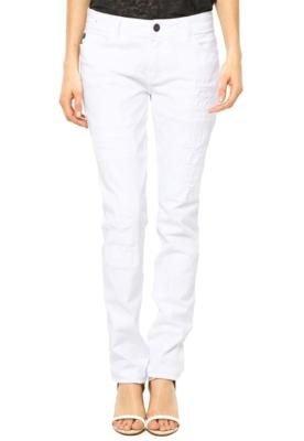 Calça Sarja Ellus Skinny Clas Color Branca
