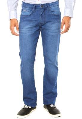 Calça Jeans Sommer Henri Estonada Reta Basic Azul
