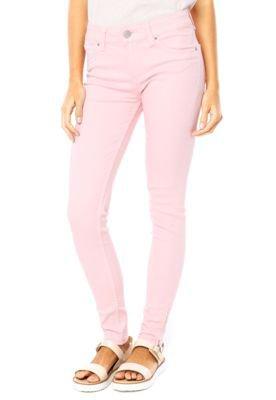Calça Sarja Lee Skinny Color Rosa