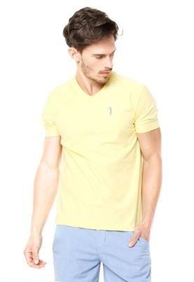 Camiseta Aleatory Bordado Amarela