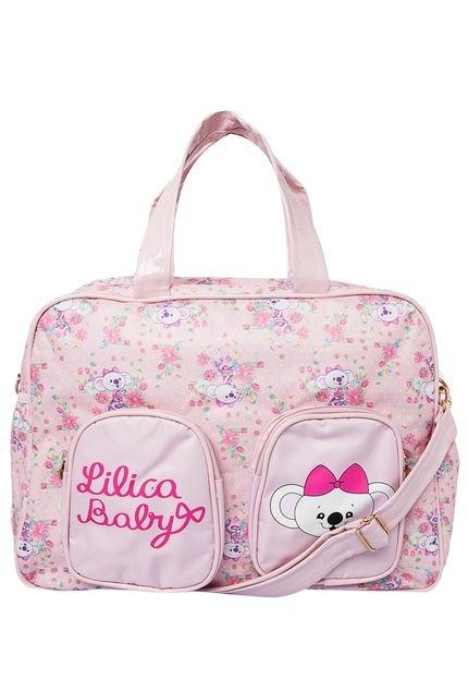 Bolsa De Mão Rosa Lilica Ripilica : Bolsa maternidade lilica ripilica estampada rosa compre