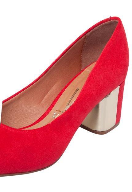Scarpin Vizzano Bico Redondo Vermelho - Compre Agora   Dafiti Brasil