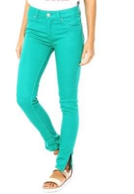 Calça Sarja Lee Skinny Color Verde