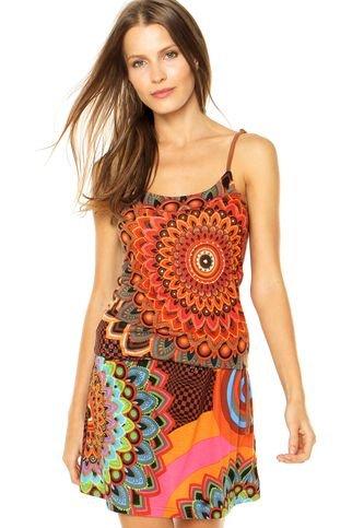 Vestido Desigual Tobago Multicolorido