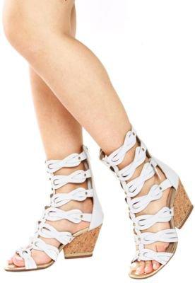 Sandália Salto Dakota Gladiadora Branca