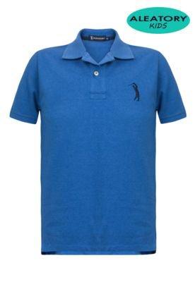 Camisa Polo Aleatory Kids Bordado Azul