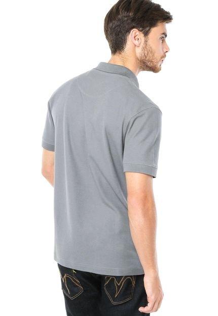 camisa polo aramis bordado cinza compre agora dafiti brasil. Black Bedroom Furniture Sets. Home Design Ideas