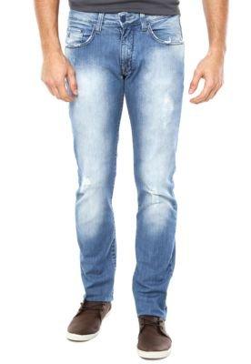 Calça Jeans Calvin Klein Reta Fuel Azul