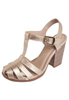Sandália Salto Dakota Tiras Dourada