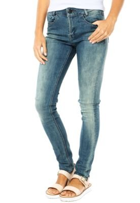 Calça Jeans Lee Skinny Skyler Dirty Wash Azul