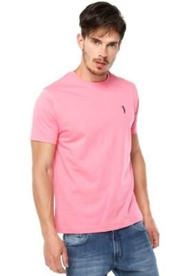 Camiseta Aleatory Simple Rosa